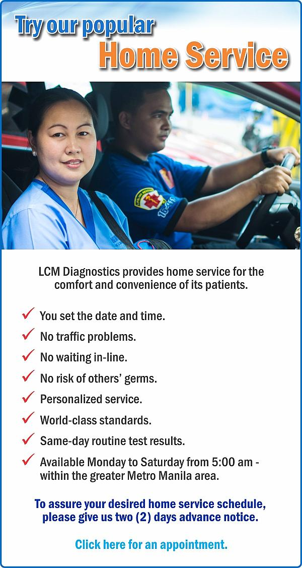 LCM Diagnostics - Try our popular Home Service!